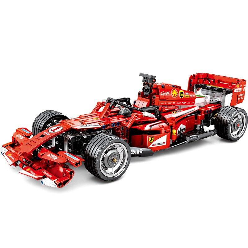 Sembo Compatibel legoed Technic F1 racer elektrische motor sets racer power functies PF bouwstenen kid speelgoed kit formule 1-in Blokken van Speelgoed & Hobbies op  Groep 1