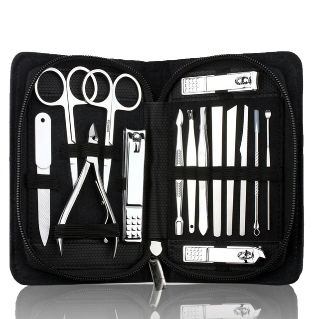 15pcs/set Nail Clippers Manicure Pedicure Kits Professional ...