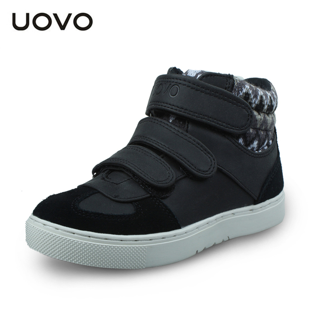 UOVO осень детская обувь мальчиков и девочек спортивная обувь 3 крюк и петля детская обувь модные кроссовки высокого качества для дети