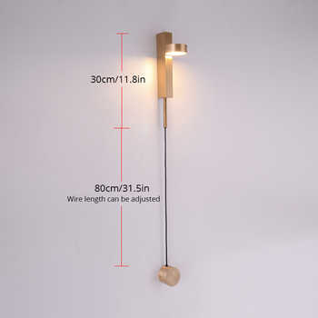LED Dimming Wall Lamp Bedroom Bedside Wall Light Indoor Decoration Light Fixture White/Gold/Black With Dimmer Switch