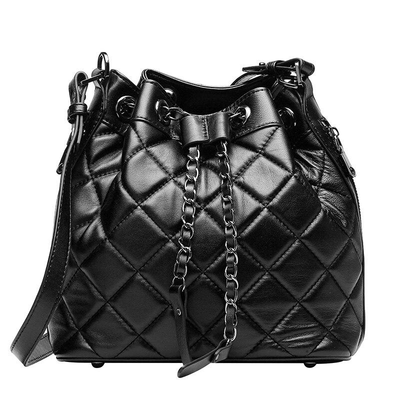we more High Quality Fashion New Full Water Proof Bucket Women's Diamond Lattice Leatherwear Handbags eyki h5018 high quality leak proof bottle w filter strap gray 400ml