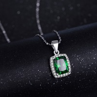 2017 R J 3 0Ct New Fashion 925 Sterling Silver Pendant Natural Emerald Luxury Jewelry Brand