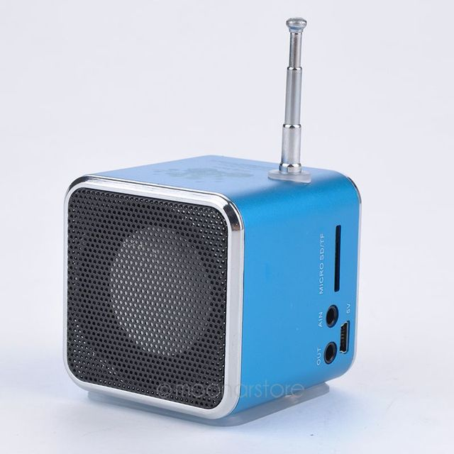 Portable FM Radio Stereo mp3 phone Laptop MP3 MP4 Player Speakers Portable Micro SD TF USB Mini Speaker Music Player