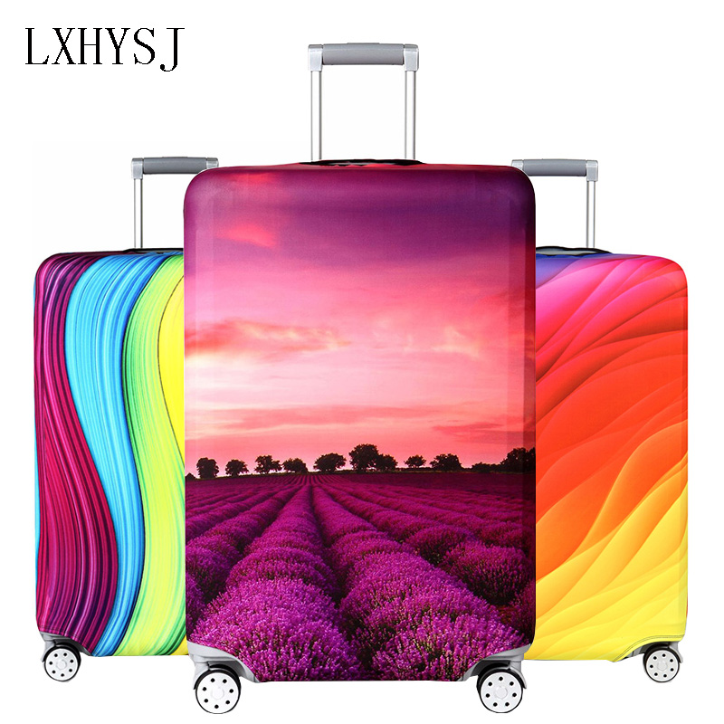 Travel Thicken Luggage Cover Elasticity Suitcase Cover Suitable For 18-32 Inch Trolley Dust Cover Travel Accessories