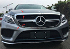 Exterior For Mercedes Benz GLE ( W116 ) 2015 2016 2017 Front Central Face Grille Grill Protection Lid Frame Cover Trim 2 Pcs