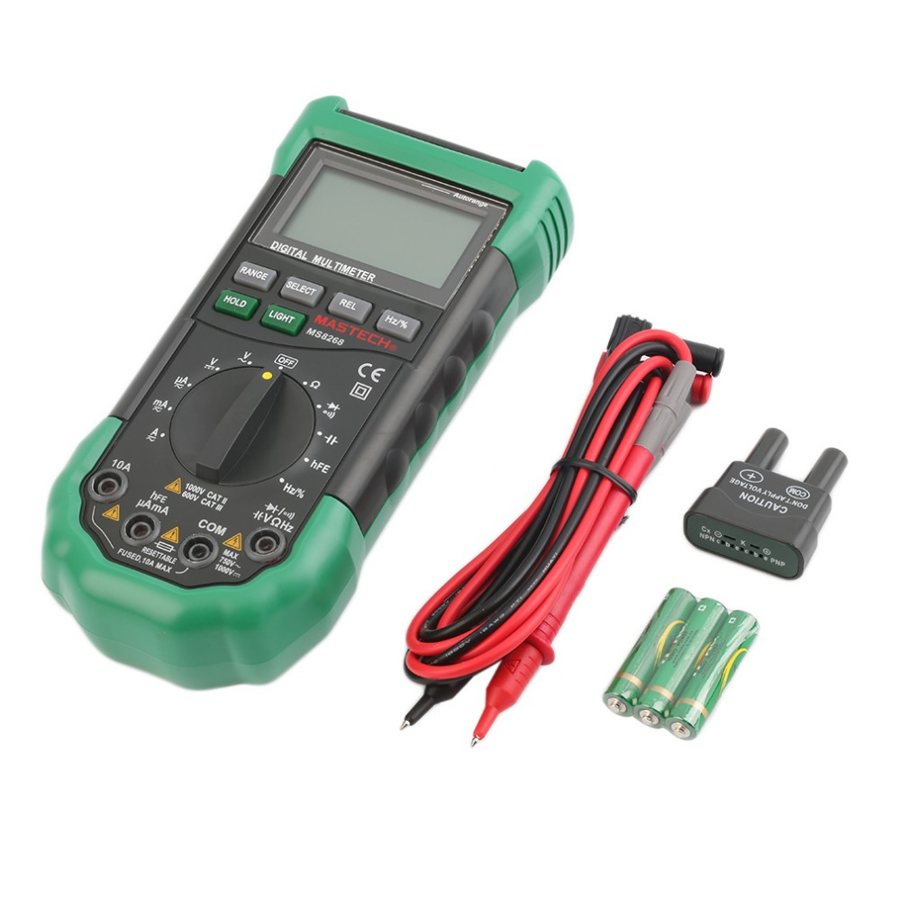 ФОТО MS8268 Digital LCD Screen Sound AC/DC Auto Manual Range Digital Multimeter