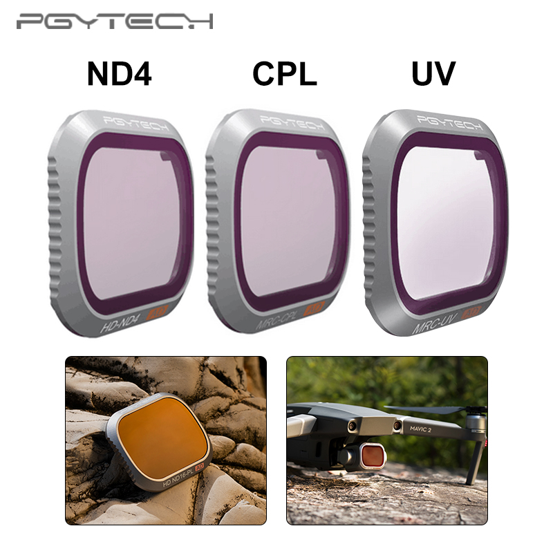 PGYTECH DJI Mavic 2 Pro UV CPL ND4 Advanced Version Filter for DJI Mavic 2 Pro Camera Lens filtersPGYTECH DJI Mavic 2 Pro UV CPL ND4 Advanced Version Filter for DJI Mavic 2 Pro Camera Lens filters