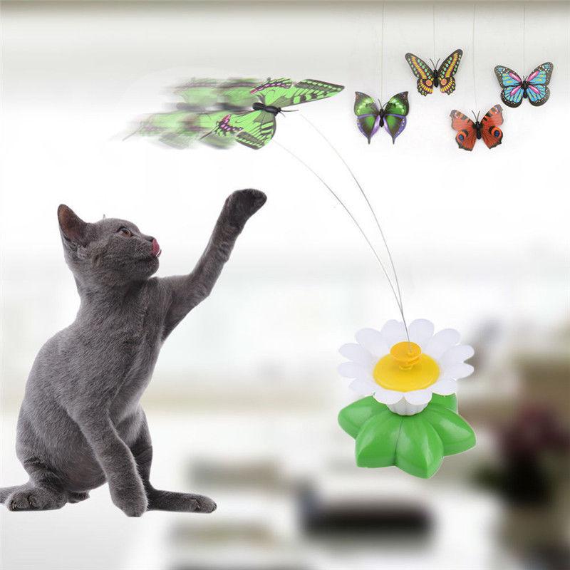 ⑦Inteligencia entrenamiento rotación eléctrica de color mariposa ...