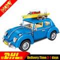 Новый ЛЕПИН 21003 Создатель Серии Городской Автомобиль Жук модель Строительные Блоки Compatible10252 Синий Техника дети игрушка в подарок