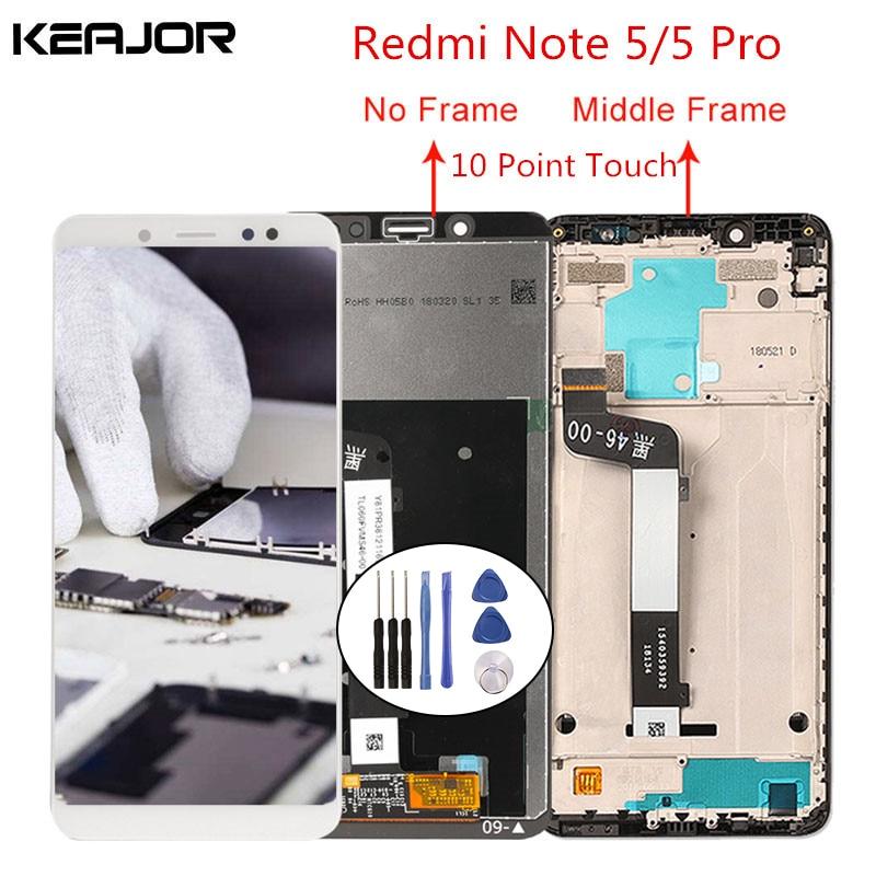 Para Xiaomi redmi note 5 pantalla lcd redmi note 5 Pro pantalla probada pantalla táctil reemplazo para redmi note 5/Note 5 Pro 5,99'