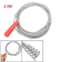 Red Plastic Handle Blocked Waste Drains Pipe Cleaning Tool 2 5M