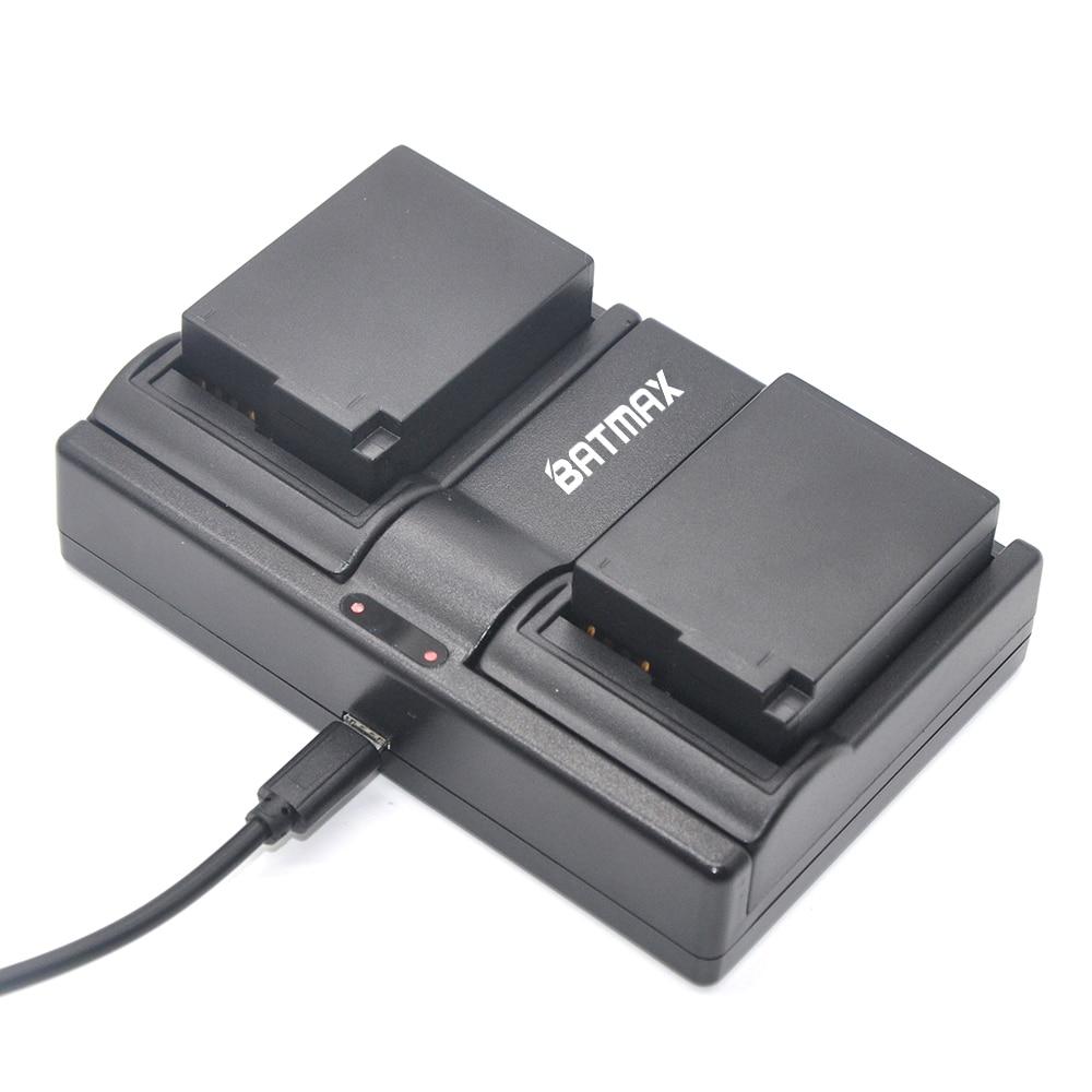 2Pcs 1400mAh DMW-BLC12 DMW-BLC12E DMCBLC12 BLC12 Battery&Dual Charger for Panasonic FZ1000, FZ200, FZ300, G5, G6, G7,GH2,DMC-GX8 dste for panasonic dmc gh2 dmc gh2gk dmc v lux4 dmc g7 smart digital 1 5a dual charger compatible 2xli ion dmw blc12 batteries