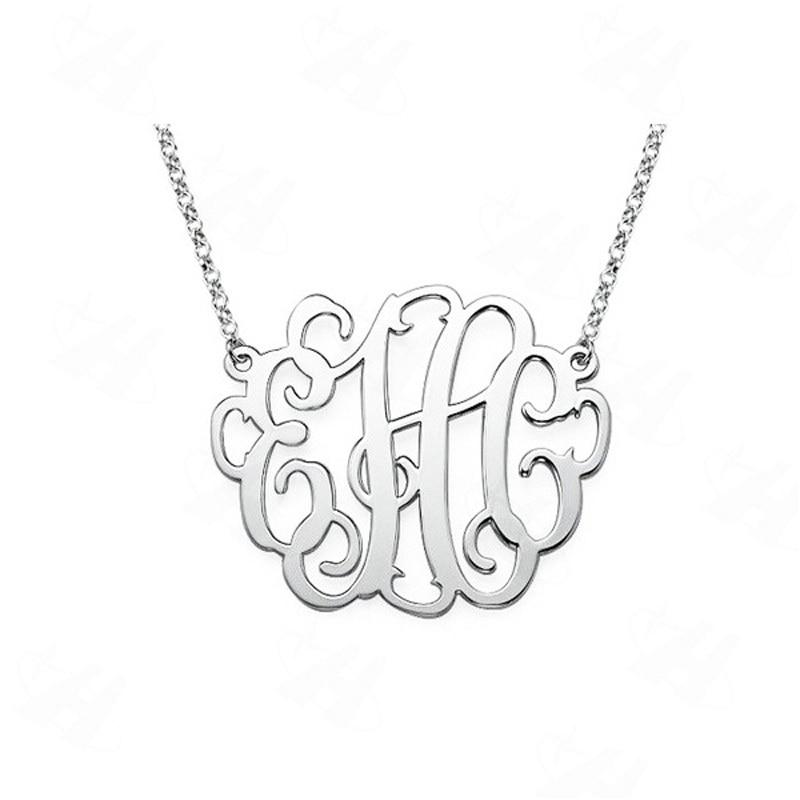 3d74a96ac3dd Cheap Nombre personalizado collar del monograma collar pendiente