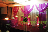 A Set Of Wedding Curtain Stand In 3x6m Wedding Backdrop And Pipe With Expandable Rods