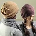 2015 nueva moda coreana Beckham Hip Hop Cap Cashmere nepalí bicapa gorros línea gorro de punto hombres y mujeres amantes sombrero Skullies