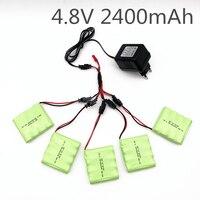 4.8V 2400Mah Ni-Mh Batterij Met 5 In 1 Oplader Voor Afstandsbediening Speelgoed Verlichting Elektrische Tool Aa Groep rc Speelgoed Batterij Groep
