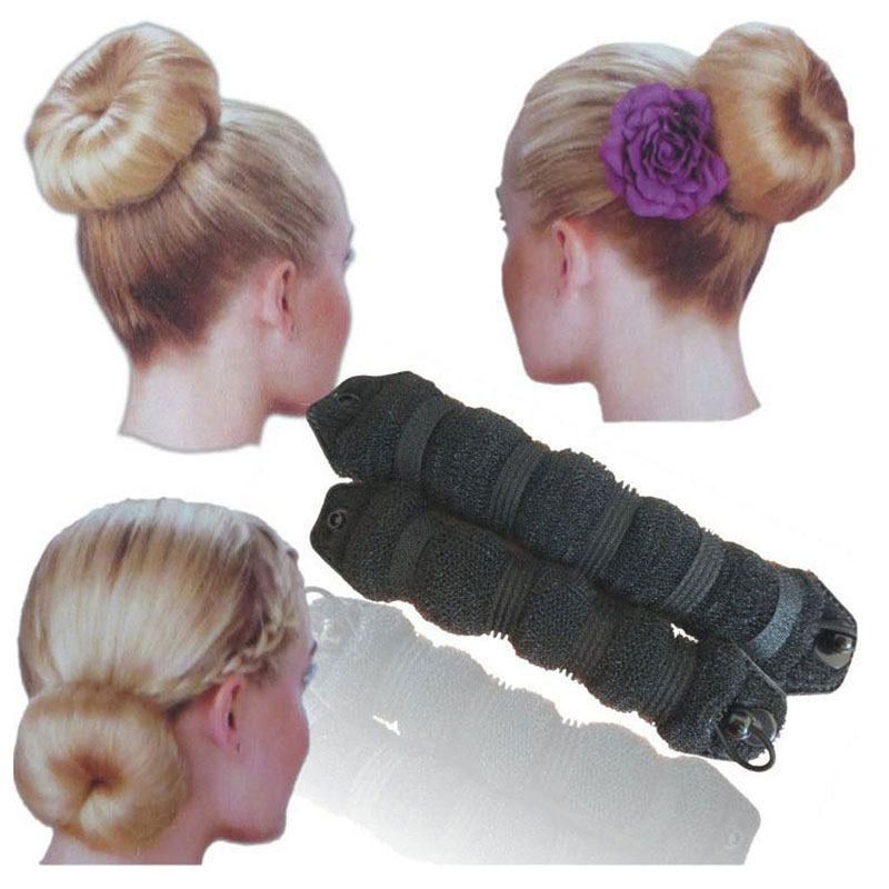 2pcs Different Sizes Hot Sale Elegant Magic Hair Styling Tools Buns Hair Accessories   Headwear   Hair Rope 3 Colors Headbands