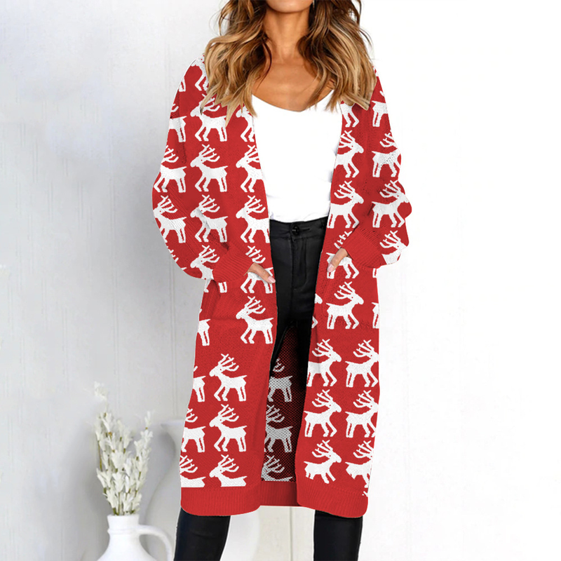 Leopard Printed Cardigan Sweater 2018 Women Sexy Long Cardigan Sweater Long Sleeve Knitwear Sweater Sueter Mujer