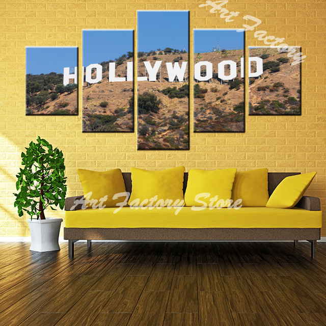 beauty landscape of Hollywood USA movie base canvas painting 5 ...