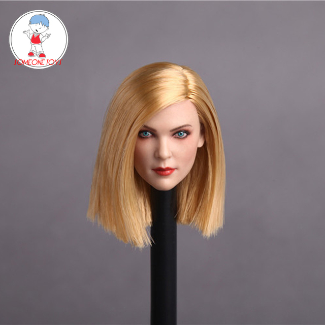 4 Phong Cách 1/6 Châu Âu Người Phụ Nữ Đầu Tạc Nâu Vàng Dài Tóc Ngắn Mỹ Nữ Headplay 12 Inch Hình Hành Động búp Bê