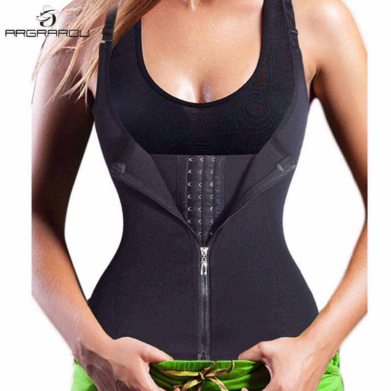 Hot Shapers Neoprene Sauna Sweat Vest Waist Trainer Cincher Women Body Shaper Slimming Trimmer Corset Top Workout Thermo Trainer