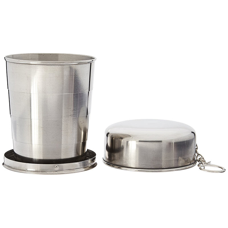 Mini Stainless Steel Portable Outdoor Travel Camping Folding Collapsible Cup Telescopic Mug With Keychain 75Ml 150Ml 240Ml (33)