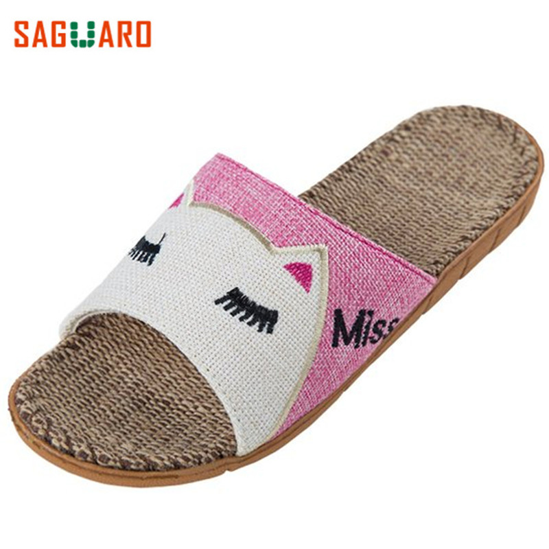 SAGUARO Summer Indoor Home Shoes Men Women Girls Slippers