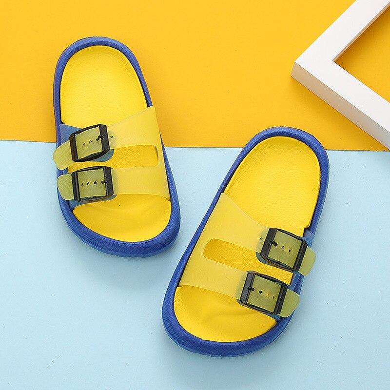 Новая летняя мультяшная детская обувь Cave мальчики девочки уличные тапочки дети пляжные вьетнамки дышащий светильник тапки для малыша - Цвет: yellow