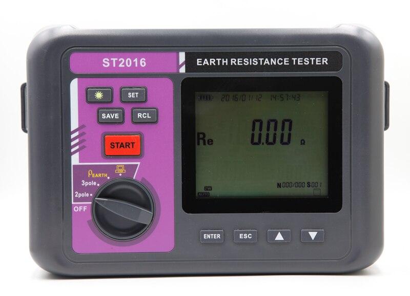 Авто Диапазон Цифровой ЗЕМЛИ СОПРОТИВЛЕНИЕ резистивиметр интеллектуальные ЖК-дисплей 3 полюса Земли Измеритель сопротивления почвы Измер...
