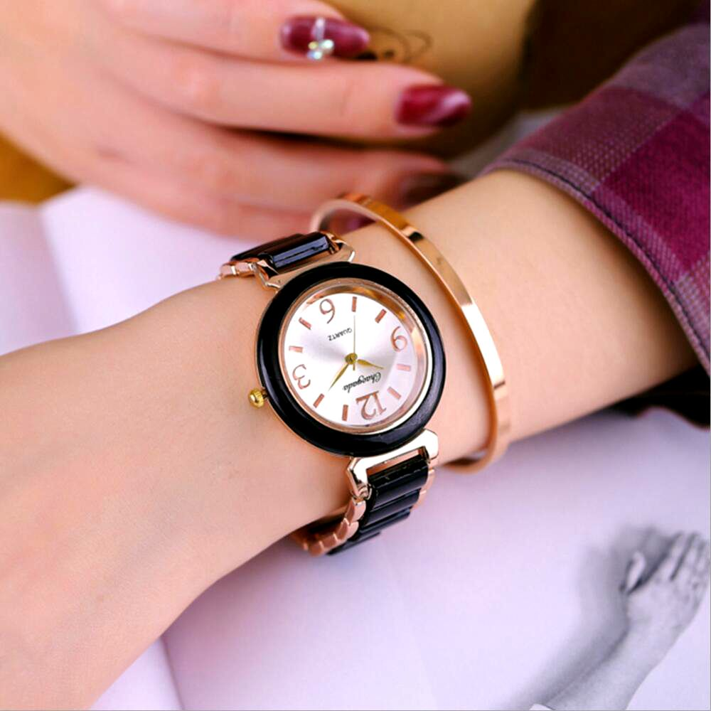 2016 Fashion Rose Gold Quartz Watch Full Steel Bracelet Watch Women Watches Ladies Watch Lady Hour relogio feminino reloj mujer hot sale womens luxury silver watches fashion hollow dial watch full steel quartz watch ladies watch hour clock relogio feminino