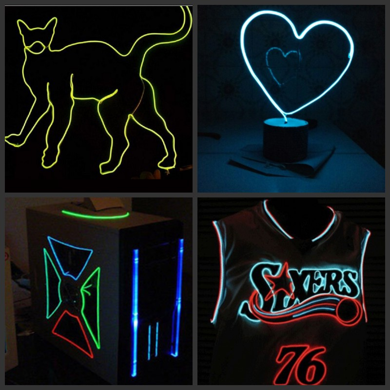 LED Neon Light, Flexible LED Neon Light Glow, Rope Tape, Cable Strip, Decoration, LED,