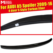For Audi A5 High-quality Carbon Rear Spoiler Tail S Style Fiber Trunk Wing 4-Doors car styling 2009-16