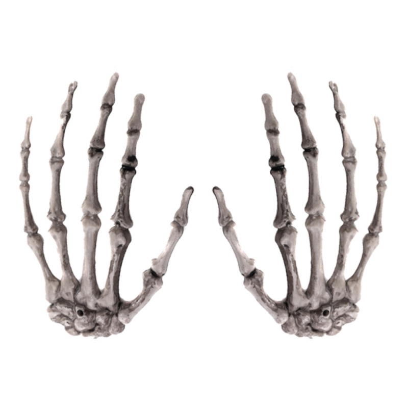 1 Pairs Plastic Skeleton Hands Haunted House for Halloween Decoration Halloween Props