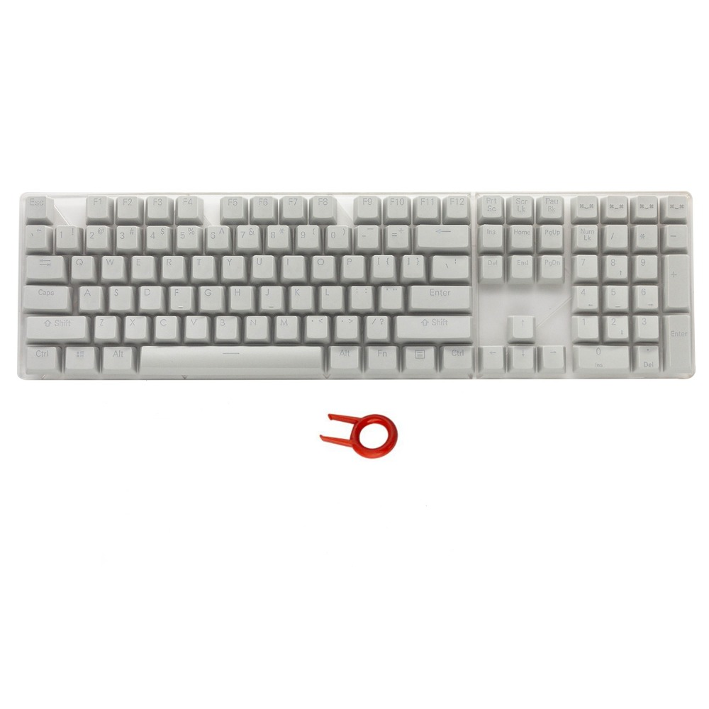 PBT Backlit Keycaps Gray 108Key Set Doubleshot Cherry MX Key Caps Top Print for 87/104/108 MX Switch Mechanical Gaming Keyboard наклейки интерьерные decoretto наклейка для декора бамбук 42 шт