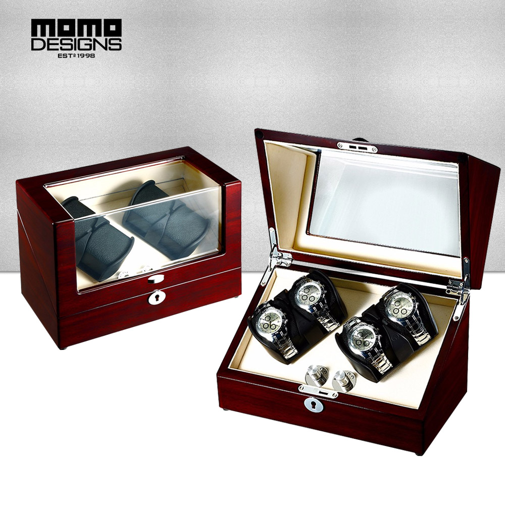 Deluxe Watch winder box Mabuchi motor box for Large automatic watches Reel winding box with TOP window Rotary table box display professional collector watch winder 4 5 watches reel winder display with led ligth top glass window door sensor