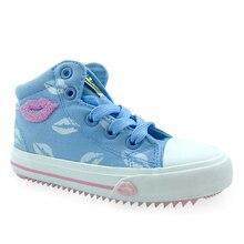 Детская обувь Повседневное спортивные кроссовки Высокое качество дети молния парусиновая обувь для девочек студенческие кроссовки 2 цвета