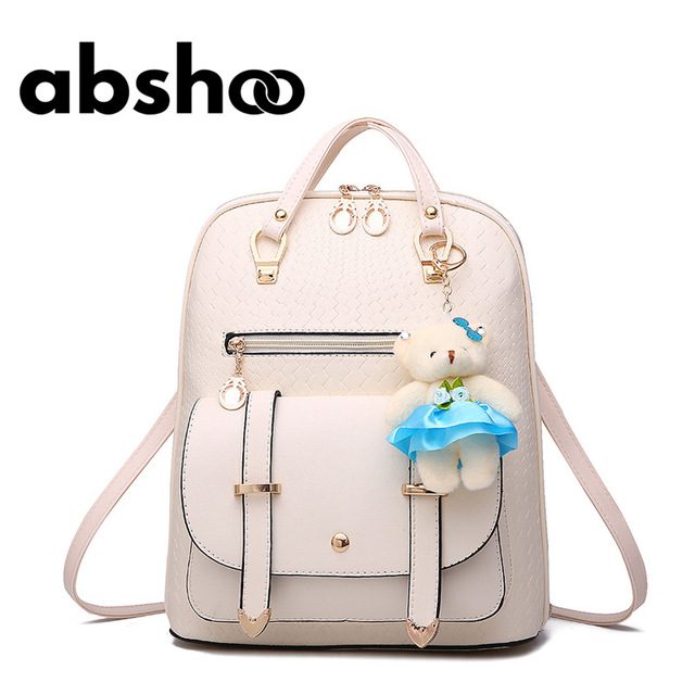 Girls Cute Leather Backpacks Fashion School Bags For Girl Shoulder ...