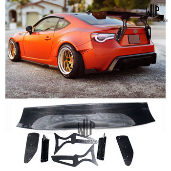 High Quality Carbon Fiber Rear Spoiler Wings With All Aluminium Base Car Styling For Toyota GT86 BRZ Car Body Kit 13-17 image
