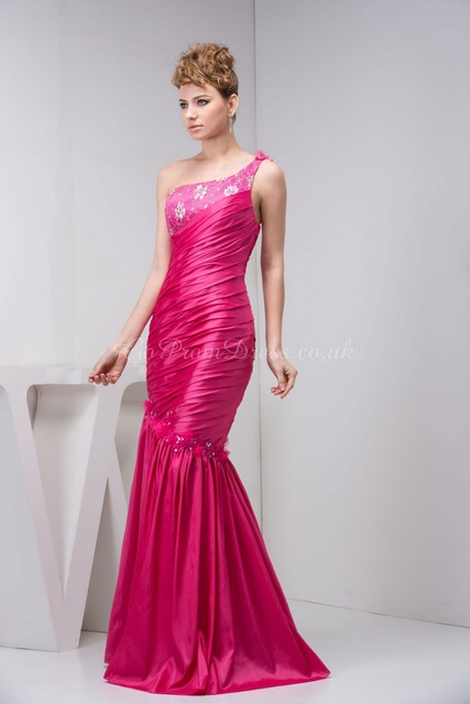 Plus size hot pink satin dress