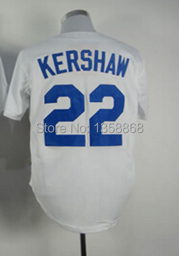 Free Shipping 22 Clayton Kershaw jersey Embroidery and Sewing Logos  Baseball Clayton Kershaw jersey White 8981a5f1e06