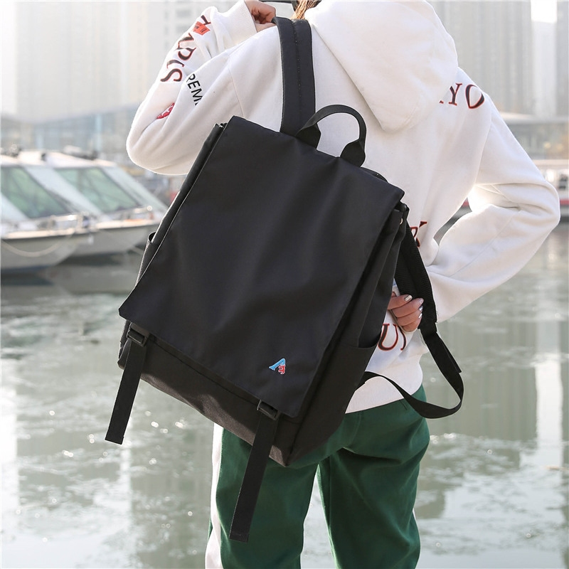 Harajuku Ulzzang Couple Backpacks Canvas Women Men Backpack Korean Style College School Bag For Teenage Girls Boy Mochilas Mujer