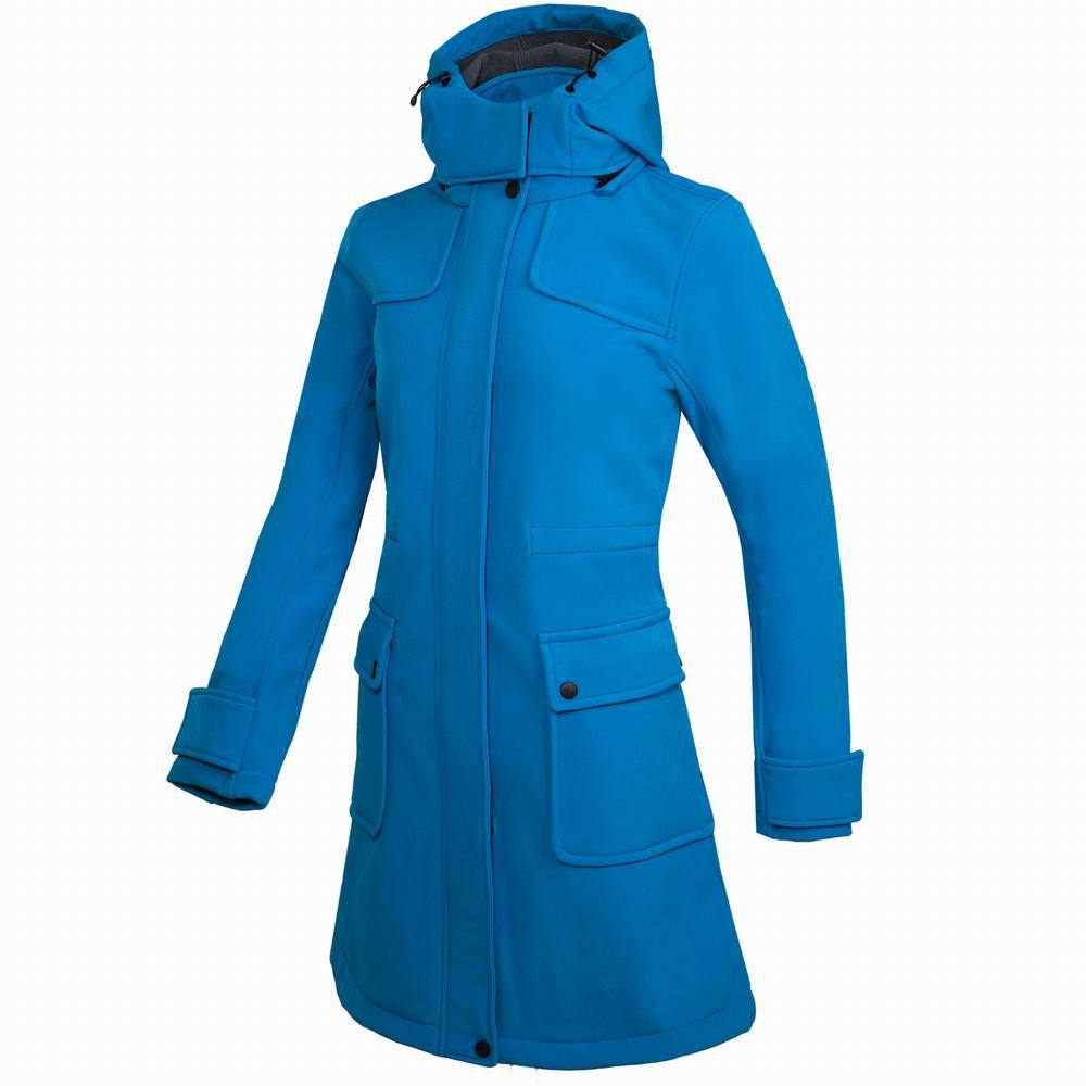 2018 Women Female Outdoor Inner Fleece Hiking Long Coat Autumn Hooded Softshell Jacket Hunting Escalada Jackets Windbreaker Jaqu