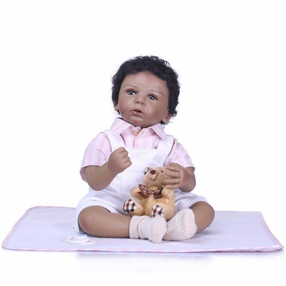 NPK 50cm doll reborn toys for boys girls gift cloth body silicone reborn babies bebe real
