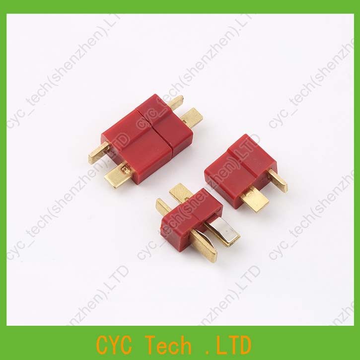 Image 3 - 50pairs Good Quality Large Current Plug Connector Male+Female RC ESC Battery Helicopter T plug for Airplane Car Boat-in Connectors from Lights & Lighting