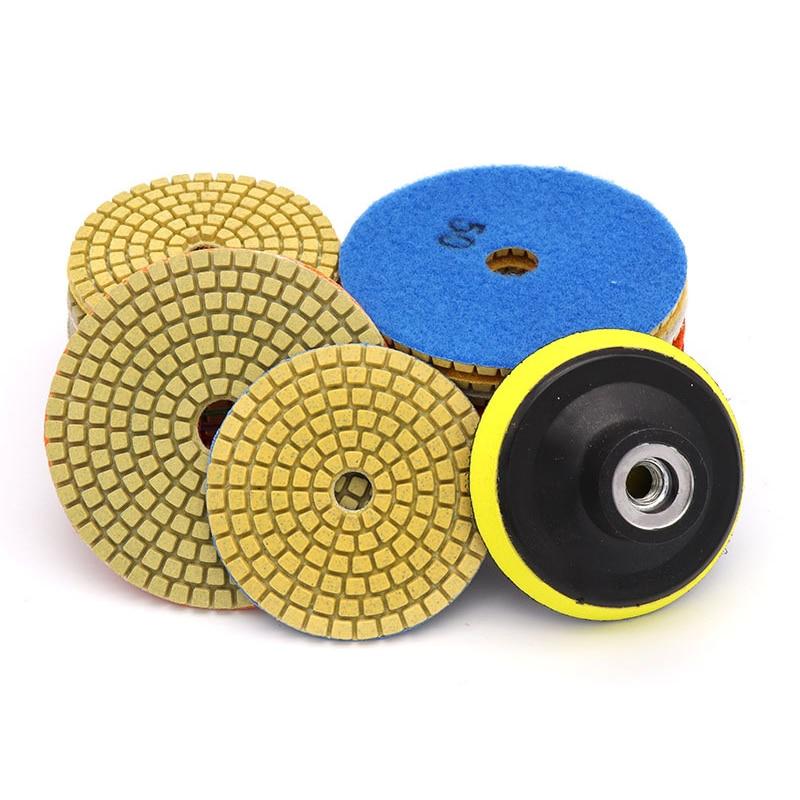 3 / 4 Inch 50-3000 Grain 11pcs Diamond Wet Polishing Disc Set With Holder Marble Stone Ceramic Granite Polishing Wheel Tools