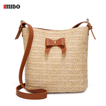 Summer Beach Woven Bags Women Straw Handbags And Purse Shoulder Bag Fashion Small Shopping Tote Female