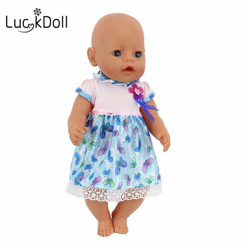 LUCKDOLL verano vestido de alta calidad ajuste 18 pulgadas americano 43cm muñeca accesorios de ropa, juguetes para niñas, generación, regalo de cumpleaños