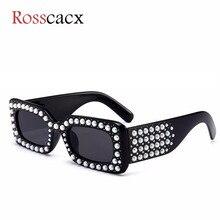 Rosscacx Design Square Pearl Sunglasses women Vintage Diamond Rectangle Sunglasses brand luxury Trend Female Sun Glasses
