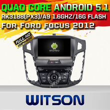 WITSON Android 5.1 CAR DVD GPS for FROD FOCUS 2012 Capacitive touch screen Cortex A9 Qual-core1.6G 16GB Rom Free Shipping+GIFT