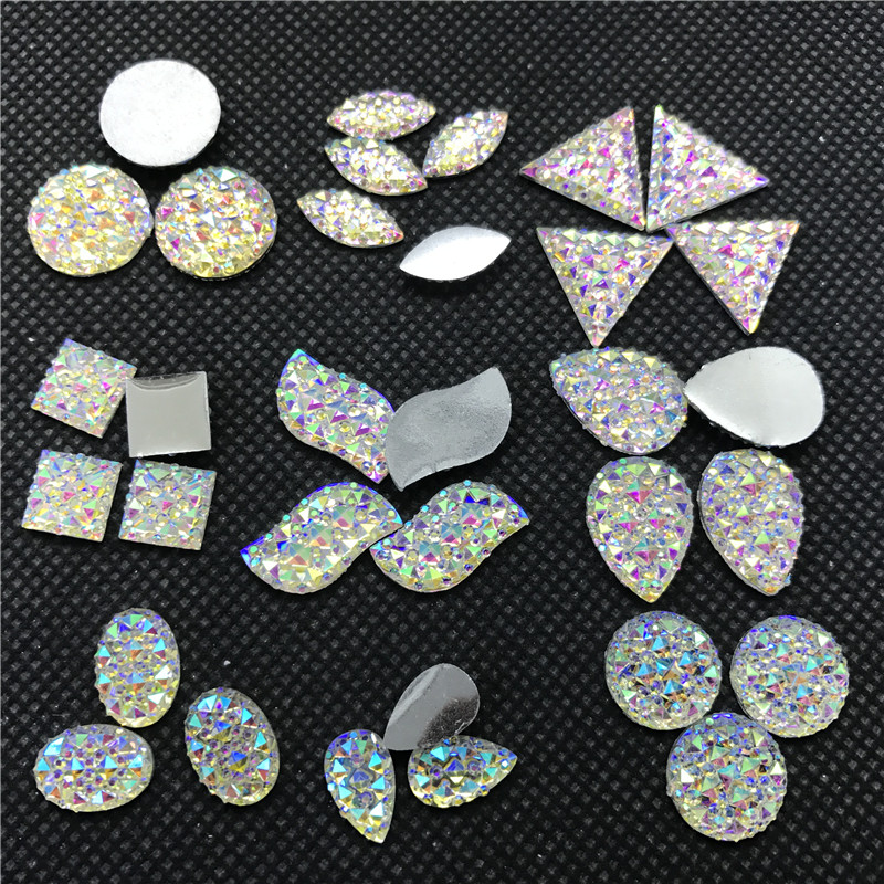 200pcs Mixed Colors Bears Resin Decoden Kawaii Flatback Cabochon 24mm Lovely Printed D25 Jewelry Findings & Components